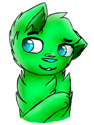 green puppy [Commission] by CattyAngel