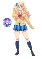Oshiete! Galko-chan 07 Render by AeNa34