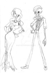 Emily Bonejangles 40's style by Lily-pily