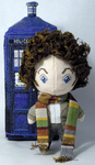 The Fourth Doctor Cross Stitch Doll by rhaben