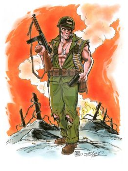 SGT Rock Commission by timshinn73