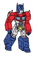 optimus prime coloured by x9000
