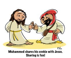 Mohammed and Jesus by Phostex
