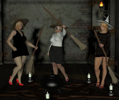 Extraordinary meeting of the Kingsdown Coven by PaulineG1