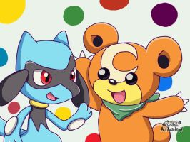 Riolu and Teddiursa