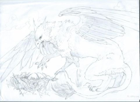 Gryphon sketch by Malaurielle