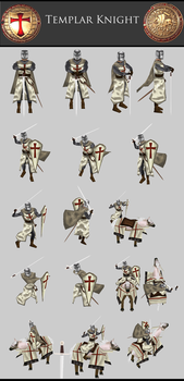 Templar Knight pose1 by Lowpoly-Workshop