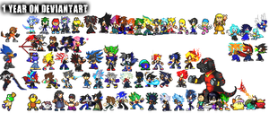 1 Year on Deviantart. by DrizzlyScroll1996
