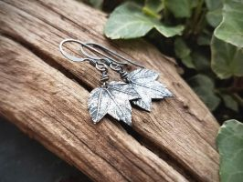 Baby Maple Leaf Earrings by QuintessentialArts