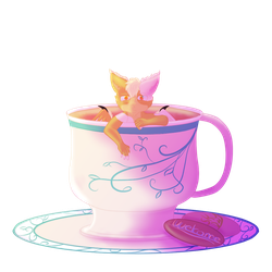 .:Bitty Dragon Tea:. by Skythedragonwolf