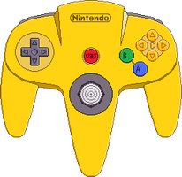 Nintendo 64 Controller [Yellow] by BLUEamnesiac