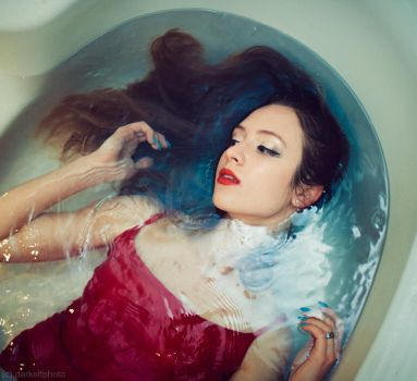 red and blue by darkelfphoto