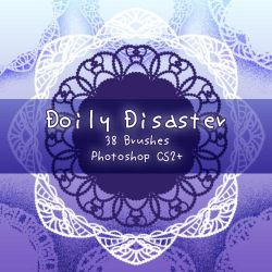 Doily Disaster Brushes by kabocha