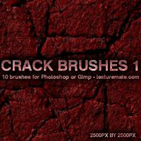Crack Brushes 1 by AscendedArts
