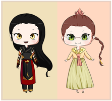 Chibis :3 by puddlehop