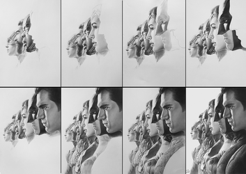 Justice League Pencil Art working process by yinyuming