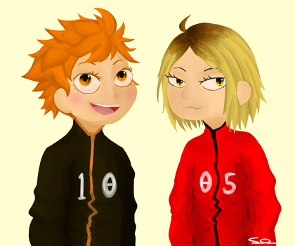Hinata And Kenma by xLhoodies