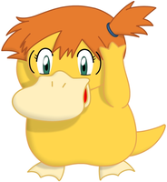 Commission: Misty the Psyduck by P1nkApple