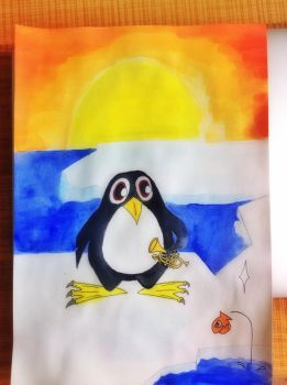 Small penguin with his trumpet by Small-Penguin
