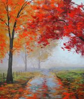 Misty Autumn by artsaus