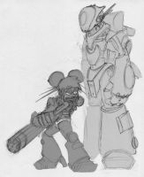 M1337-A1 and teen pwnT-34 by Sebbythefreak