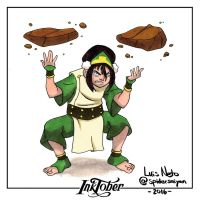 Inktober Day-07  Toph by Spidersaiyan