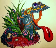 Psychedelic Peace Frog by cozmikrat