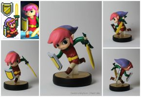 LTTP Toon Link Custom Amiibo by PixelCollie