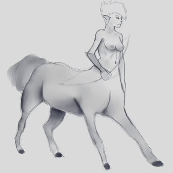 Centaur Girl by Killerwolf19