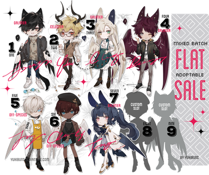 [mixed batch] flat sale [pending] by yukibuns