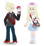 Gladion and Lillie the Pokemon Trainers by MCsaurus