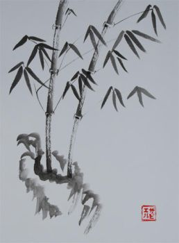Sumi-e Bamboo2 by xtolord