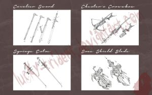 Bloodborne Weapons (commissions) by Lucky-Trident