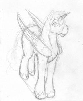Winged Unicorn WIP by Stormelle