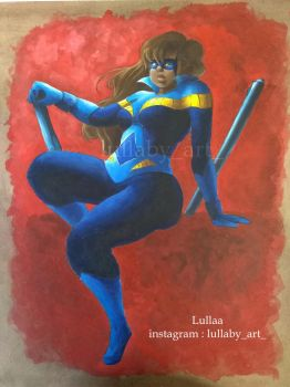 nightwing pin up by lullaby71