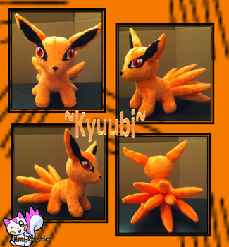 Minky Kyuubi Plushie :Sold: by Ami-Plushies