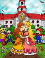 Mario: I kissed a girl... by MagicMikki
