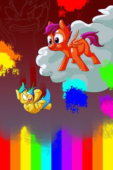 In the Rainbow Factory by SlushiOwl