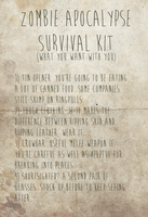 Zombie Apocalypse Survival Kit [battered] by romancer