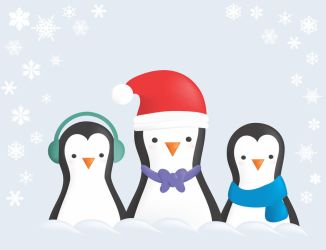 Penguins in the snow by natalia-factory