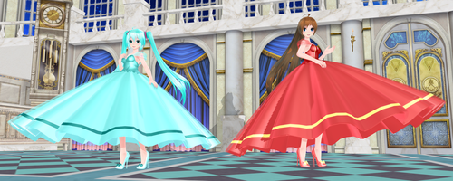 [MMD DL] TDA + WYKP Pretty Gown Miku and Amy by Mario-and-Sonic-Guy