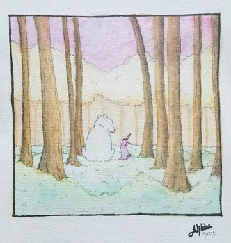 A Forest Tale of a Bear and a Bunny by absolutelyphine