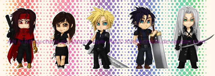 Final Fantasy AC Chibi Set by Kinky-chichi