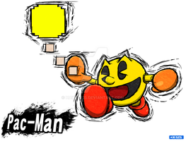 Smash Art: Pac-Man by Hawke525