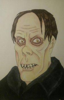 Lon Chaney in markers by Crystal-Gargoyle