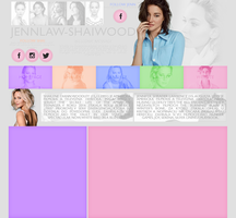 Ordered Layout ft. Jenn Lawrence and Shai Woodley by Kate-Mikaelson