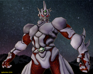 Guyver3 Lowpoly 3D Model Rigged by igdbonbon
