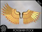 Metal Wings 001 Gold by poserfan-stock
