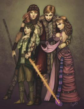 Rand and his Ladies by Makena