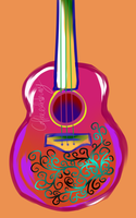 Abstract Guitar by CoffeeEatsBunny